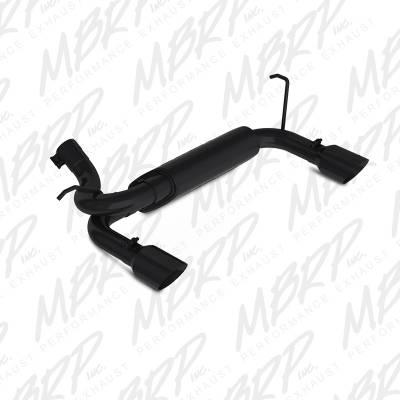 """MBRP Exhaust - MBRP Exhaust 2 1/2"""" Axle Back, Dual Rear Exit, BLK S5528BLK"""