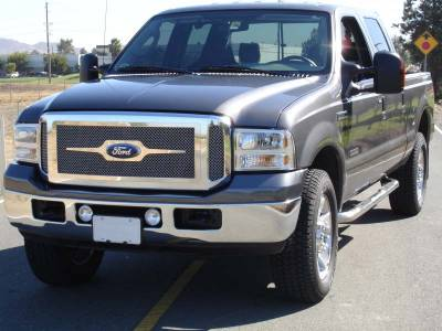 T-Rex - T-Rex 2005-2007 Super Duty  Upper Class STAINLESS POLISHED Grille 54561