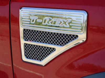 T-Rex - T-Rex 2008-2010 Super Duty  Upper Class STAINLESS POLISHED SIDE VENT 54564