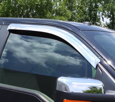 Auto Ventshade (AVS) - Auto Ventshade (AVS) CHROME VENTVISOR-2PC 682503 - Image 3