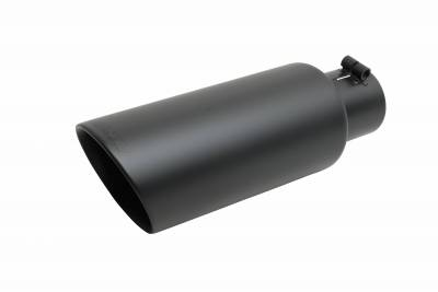 Gibson Performance Exhaust - Gibson Performance Exhaust Black Ceramic Double Walled Angle Exhaust Tip 500419-B