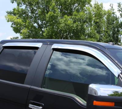 Auto Ventshade (AVS) - Auto Ventshade (AVS) CHROME VENTVISOR-4PC 684056 - Image 4