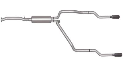 Gibson Performance Exhaust - Gibson Performance Exhaust Cat-Back Dual Split Exhaust System, Aluminized 5505