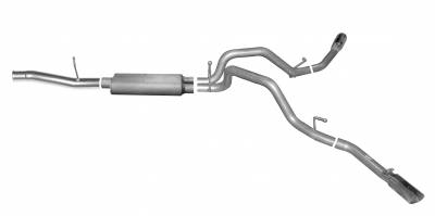 Gibson Performance Exhaust - Gibson Performance Exhaust Cat-Back Dual Extreme Exhaust System, Aluminized 5662