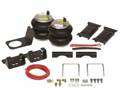 Firestone Ride-Rite 2355 Ride-Rite; Air Helper Spring Kit; Rear; Incl Brackets; Air Helper Springs; Hardware; Air Line; And Inflation Valves; No Drilling Required; Number W217602355;