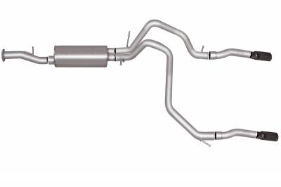 Gibson Performance Exhaust - Gibson Performance Exhaust Cat-Back Dual Split Exhaust System, Aluminized 5569
