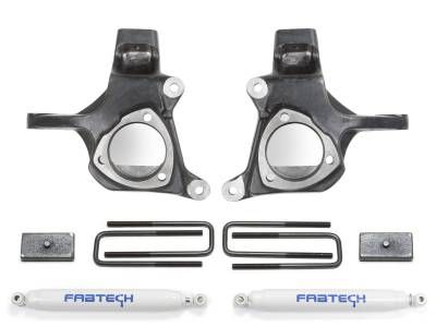 Suspension - Lift Kits - Fabtech - Fabtech 3.5in SPINDLE SYS W/PERF SHKS & RR BLOCKS 2007-13 GM C1500 K1050