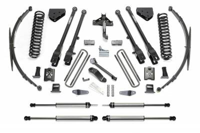 Fabtech - Fabtech 10in 4LINK SYS W/COILS & RR DLSS 05-07 FORD F250/350 4WD K2040DL