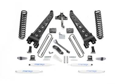 Fabtech - Fabtech 6in RAD ARM SYS W/COILS & PERF SHKS 08-10 FORD F450/550 4WD K2052
