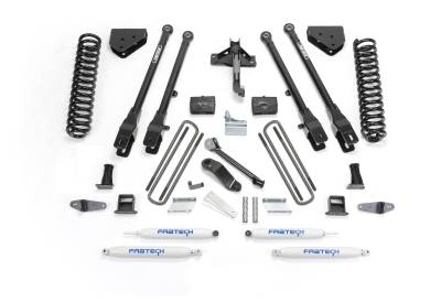 Fabtech - Fabtech 6in 4LINK SYS W/COILS & PERF SHKS 08-10 FORD F450/F550 4WD K2054