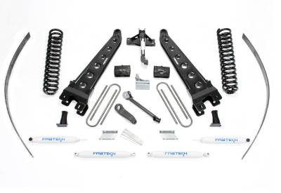 """Fabtech - Fabtech 8"""" RAD ARM SYS W/COILS & PERF SHKS 2008-16 FORD F250 4WD W/FACTORY OVERLOAD K2124"""