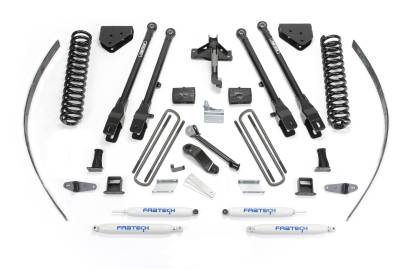 """Fabtech - Fabtech 8"""" 4LINK SYS W/COILS & PERF SHKS 2008-16 FORD F250 4WD W/FACTORY OVERLOAD K2126"""