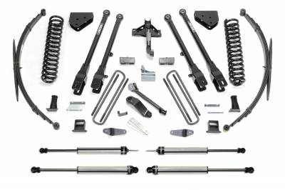 "Fabtech - Fabtech 10"" 4LINK SYS W/COILS & DLSS SHKS 2011-16 FORD F350 4WD K2150DL"