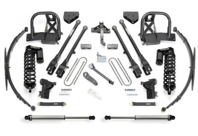 "Suspension - Lift Kits - Fabtech - Fabtech 10"" 4LINK SYS W/DLSS 4.0 C/O & RR DLSS 2011-16 FORD F250 4WD K2152DL"