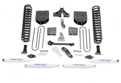 Fabtech - Fabtech 6in BASIC SYS W/PERF SHKS 2011-13 FORD F450/550 4WD 10LUG K2155