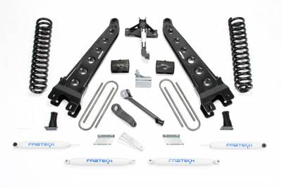 Fabtech - Fabtech 6in RAD ARM SYS W/COILS & PERF SHKS 2011-13 FORD F450/550 4WD 10LUG K2156
