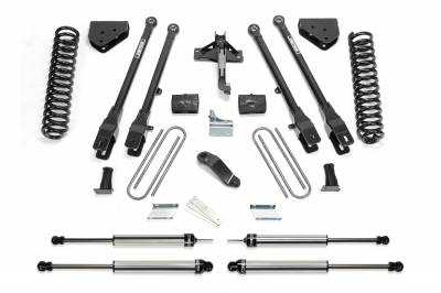 Fabtech - Fabtech 6in 4LINK SYS W/COILS & DLSS SHKS 2011-13 FORD F450/550 4WD 10 LUG K2157DL