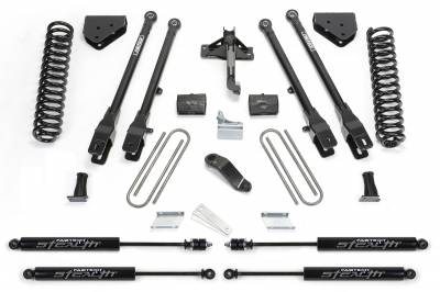 Fabtech - Fabtech 6in 4LINK SYS W/COILS & STEALTH 2011-13 FORD F450/550 4WD 10LUG K2157M
