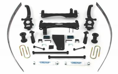 Fabtech - Fabtech 6in BASIC SYS W/PERF SHKS 2004-13 NISSAN TITAN 2/4WD K6000