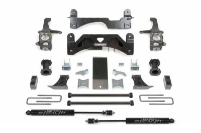 Fabtech - Fabtech 6in BASIC SYS W/C/O SPACERS & STEALTH RR 07-15 TOYOTA TUNDRA 2/4WD K7009M
