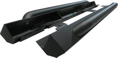 Exterior Accessories - Nerf Bars/Running Boards/Steps - MBRP Exhaust - MBRP Exhaust Rock Rail Kit (4 door), Black Coated 130714