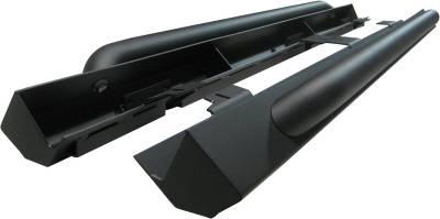 Exterior Accessories - Nerf Bars/Running Boards/Steps - MBRP Exhaust - MBRP Exhaust Rock Rail Kit (4 door), LineX Coated 130714LX