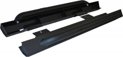 Exterior Accessories - Nerf Bars/Running Boards/Steps - MBRP Exhaust - MBRP Exhaust Rock Rail Kit (2 Door), Black Coated 130880