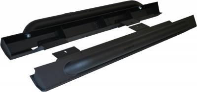 Exterior Accessories - Nerf Bars/Running Boards/Steps - MBRP Exhaust - MBRP Exhaust Rock Rail Kit (2 Door), LineX Coated 130880LX