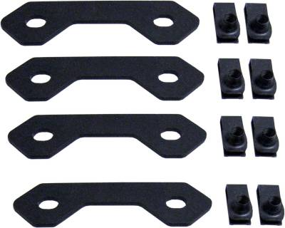 Exterior Accessories - Bumpers - MBRP Exhaust - MBRP Exhaust Spare Tire Bracket Reinforcing Kit, Black Coated 130903