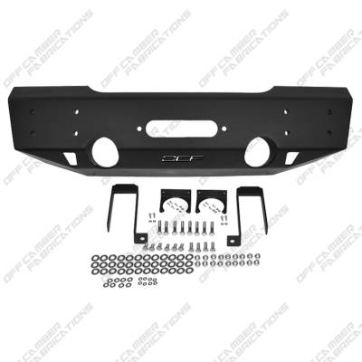 Exterior Accessories - Bumpers - MBRP Exhaust - MBRP Exhaust Front Stubby Winch Bumper 131093