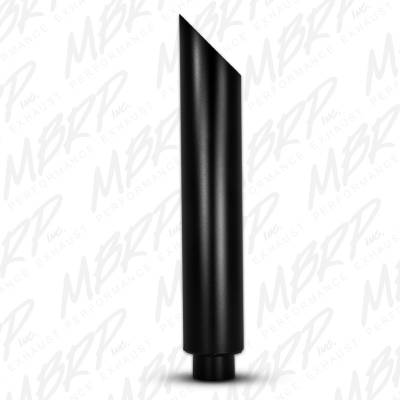 "Exhaust - Stacks and Stack Components - MBRP Exhaust - MBRP Exhaust 1 pc Stack 6"" Angle Cut 36"" Black Coated B1610BLK"