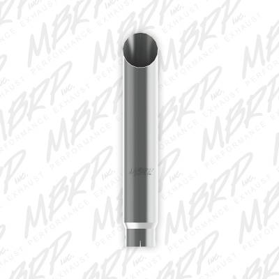 "Exhaust - Stacks and Stack Components - MBRP Exhaust - MBRP Exhaust 1 pc Stack 6"" Angle Cut 36"" Mirror Polished T304, 5"" inlet B1660"