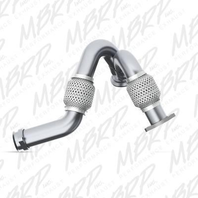 Exhaust - Muffler Delete Pipes - MBRP Exhaust - MBRP Exhaust Pipe,Turbo Up Ford Dual AL FAL2313