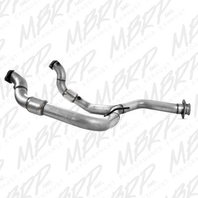 Exhaust - Muffler Delete Pipes - MBRP Exhaust - MBRP Exhaust Y Pipe with Catalytic Converters, AL FGAL010