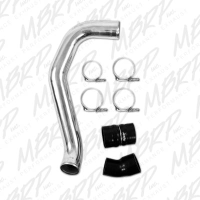 "MBRP Exhaust - MBRP Exhaust 3"" Passenger Side Intercooler Pipe, polished aluminum IC1974"
