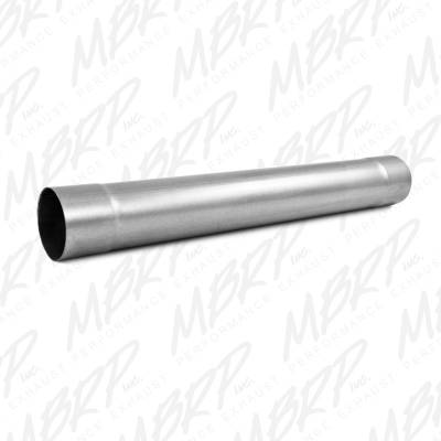 """Exhaust - Mufflers - MBRP Exhaust - MBRP Exhaust Muffler Delete Pipe  4"""" Inlet /Outlet  30"""" Overall, AL MDA30"""