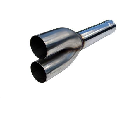 """Exhaust - Mufflers - MBRP Exhaust - MBRP Exhaust Dual Muffler Delete Pipe  4"""" Inlet /Outlet  27.5"""" Overall, T409 MDDS927"""