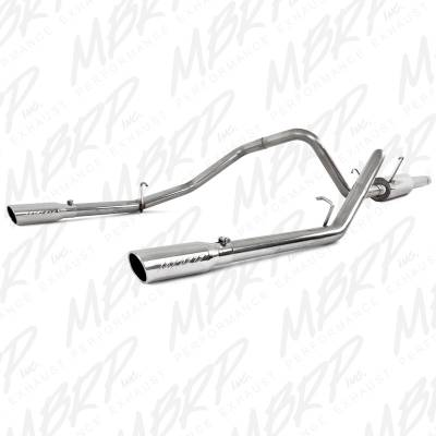 "Exhaust - Exhaust Systems - MBRP Exhaust - MBRP Exhaust 2 1/2"" Cat Back, Dual Split Rear, T409 S5108409"
