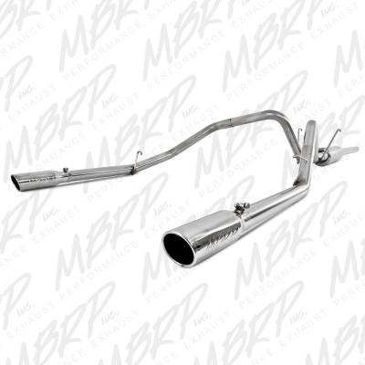 "Exhaust - Exhaust Systems - MBRP Exhaust - MBRP Exhaust 2 1/2"" Cat Back, Dual Split Rear, T409 S5126409"