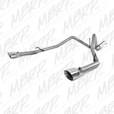"MBRP Exhaust - MBRP Exhaust 2 1/2"" Cat Back, Dual Split Rear, AL  (through stock bumper) S5146AL"