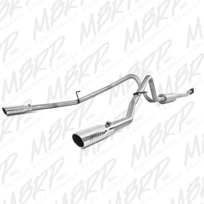 "MBRP Exhaust - MBRP Exhaust 2 1/2"" Cat Back, Dual Split Rear, AL S5214AL"