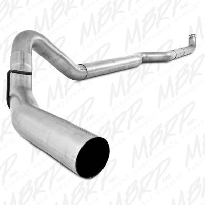 "MBRP Exhaust - MBRP Exhaust 4"" Down Pipe Back, Single Side, Off-Road (includes front pipe) - no muffler S6004PLM"