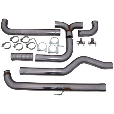 "MBRP Exhaust - MBRP Exhaust 4"" Down Pipe Back Dual SMOKERS (incl. front pipe), T409 S8000409"