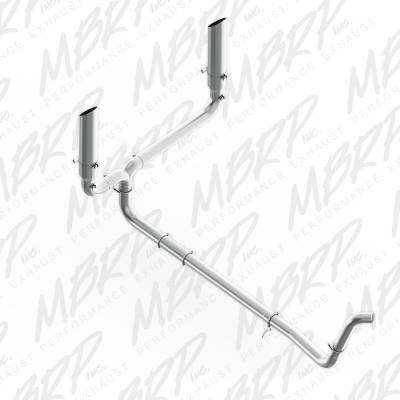 "MBRP Exhaust - MBRP Exhaust 4"" Turbo Back, SMOKERS (incl. B1610 stacks), T409 S9201409"