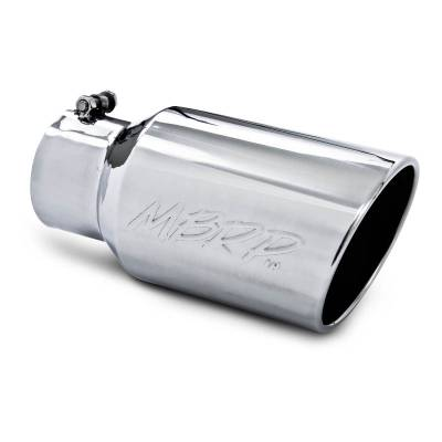 """MBRP Exhaust - MBRP Exhaust Tip, 6"""" O.D. Angled Rolled End  4"""" inlet  12"""" length, T304 T5073"""