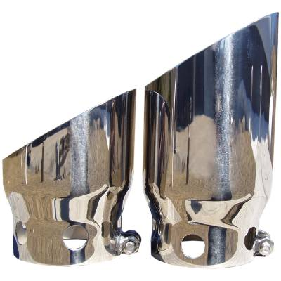 """Exhaust - Exhaust Tips - MBRP Exhaust - MBRP Exhaust 4"""" inlet 5"""" Tip Cover Set - 6 3/4"""" and 9 3/4"""" in length, T304 T5111"""