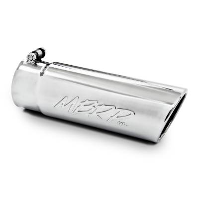 """Exhaust - Exhaust Tips - MBRP Exhaust - MBRP Exhaust Tip, 4"""" O.D. Angled Rolled End  3 1/2"""" inlet 10"""" length, T304 T5112"""