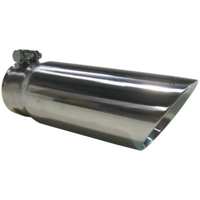 """Exhaust - Exhaust Tips - MBRP Exhaust - MBRP Exhaust Tip, 3 1/2"""" O.D. Dual Wall Angled End 3"""" inlet 12"""" length, T304 T5114"""