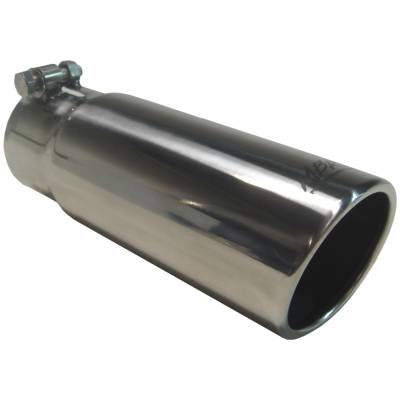 """Exhaust - Exhaust Tips - MBRP Exhaust - MBRP Exhaust Tip, 3 1/2"""" O.D. Angled Rolled End 3"""" inlet 10"""" length, T304 T5115"""