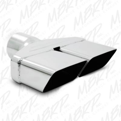 "MBRP Exhaust - MBRP Exhaust Tip, 8""x 2 1/2"" ID, Rectangle, 2 1/2"" O.D. inlet, 8 1/4"" length, T304 T5118"